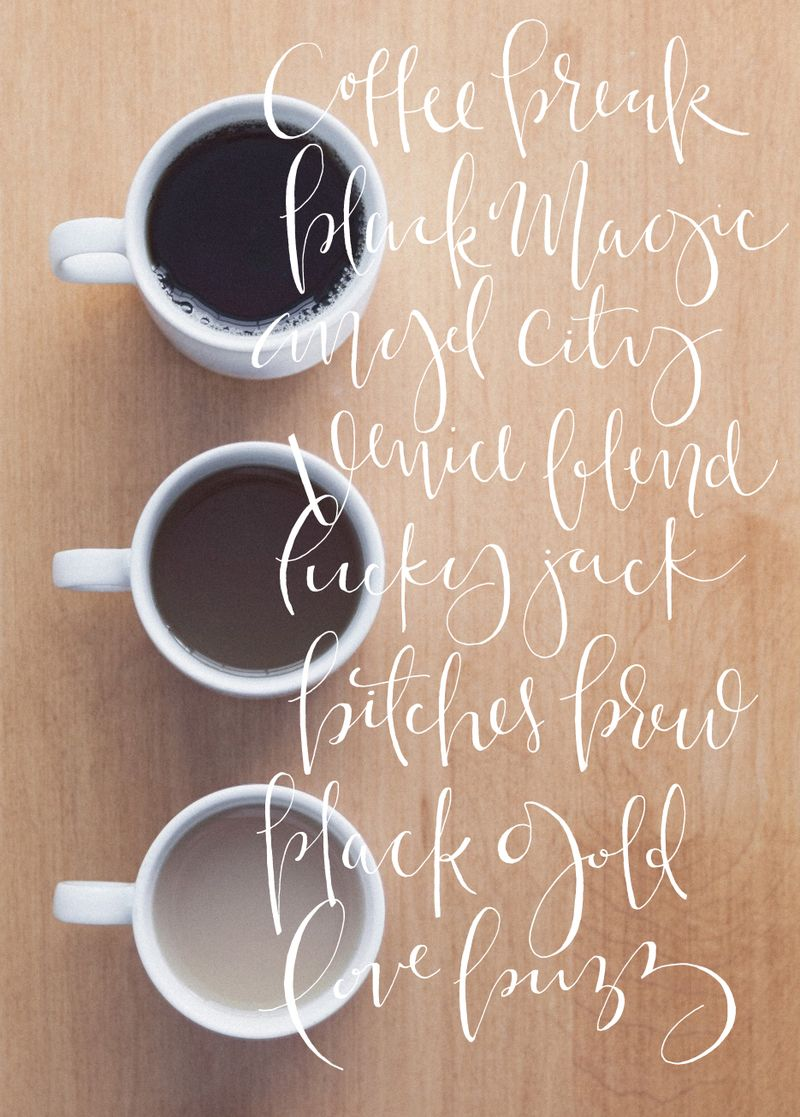 CoffeeCalligraphy